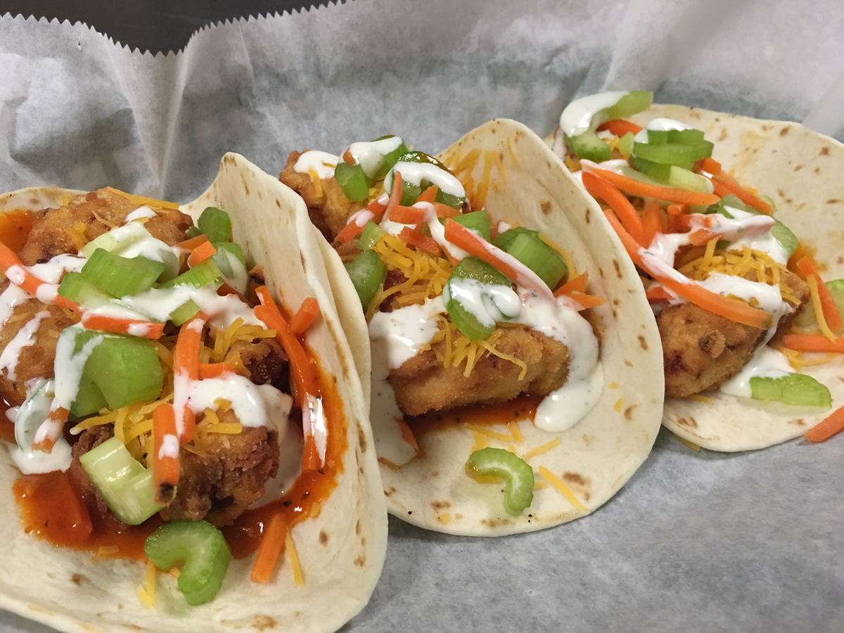Buffalo fish tacos bowser 39 s restaurant for Spicy fish taco sauce